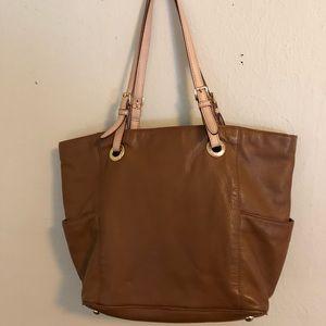 Michael Kors Tan Leather Tote Shoulder Bag